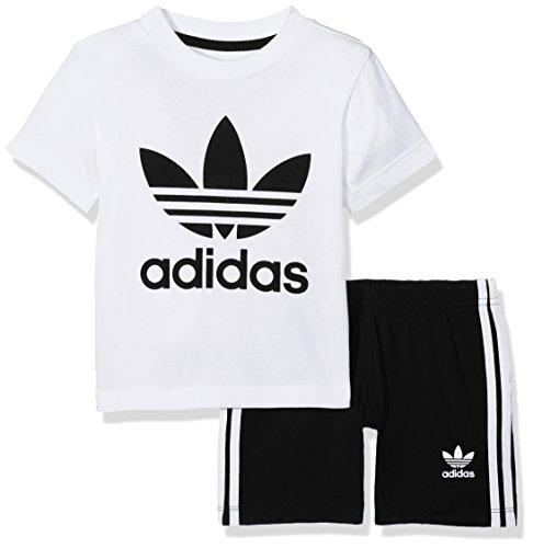 adidas Kinder Shorts und T-Shirt Set, White/Black, 86