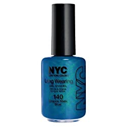 New York Color Long Wearing Nail Enamel, Empire State Blue, 0.45 Fluid Ounce