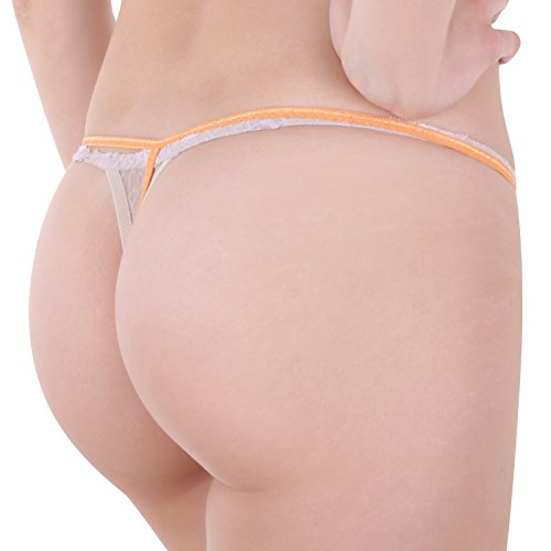 Damen String Tanga im 6er Pack Nr. 358 (Farbe/Muster kann variieren) ( Mehrfarbig / One Size ) - 9