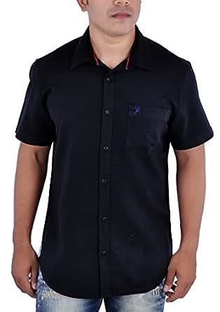 Ralp Club Men's Casual Shirt_DJSLINSM1_Black_XL