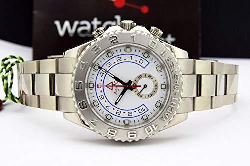Iwhsb orologi da polso automatici di marca orologi meccanici automatici orologi da parete in ceramica blu brillante con vetro zaffiro argento argento oro rosa regali bianchi per uomo argento completo