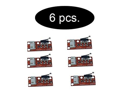 SET Endstop Endschalter ( mechanischer oder optisch ) Microswitch Schalter für 3d Drucker (6 x Mechanical) (Mechanische Endschalter)