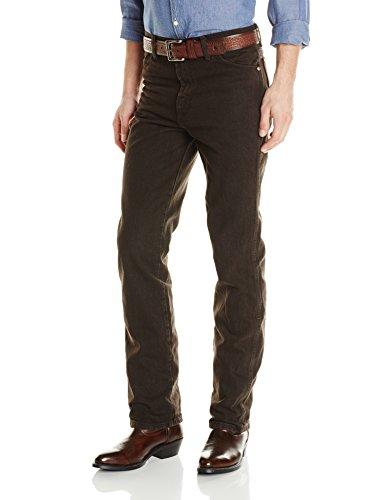 Wrangler Men's Cowboy Cut Slim Fit Jean, Black Chocolate, 29Wx30L (Chocolate Black Jean Denim)