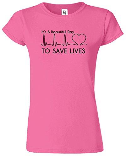 Its A Beautiful Day pour sauver le T-shirt de dames d'an Azalea / Noir Design