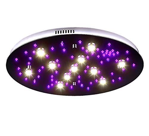 STARS-XL 60cm LED Sternenhimmel Deckenlampe Farbwechsel Subbeleuchtung mit Fernbedienung Stufenschaltung RGB Lewima