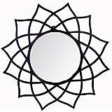 Hosley 28.54In Flower Shape Black Wall Mirror