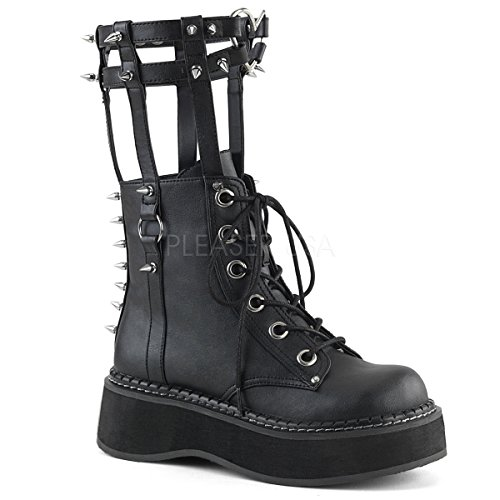Demonia EMILY-357 Blk Vegan Leather UK 5 (EU 38) Spike Heel High Platform Schuhe