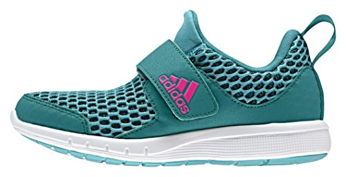 adidas Freshino K, Chaussures de Gymnastique Mixte Bébé Vert / Rose (Verimp / Eqtver / Rosimp)
