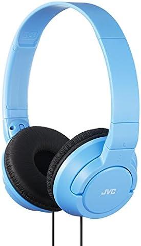 JVC HAS180AN Powerful Bass On-Ear Headphones - Light Blue