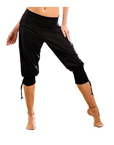 ada-gwinner-hot-pants-pantaloncini-da-donna-per-il-tempo-libero-home-fitness-colore-nero-nair