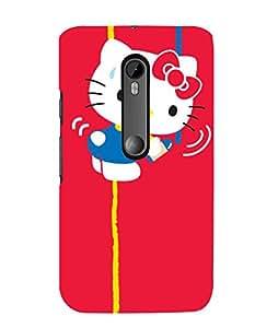 Citydreamz Hello Kitty/Cartoon/Pink Hard Polycarbonate Designer Back Case Cover For Motorola Moto G Dual SIM (Gen 3), Motorola Moto G3 Dual SIM