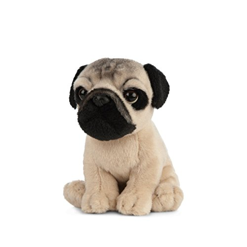 Living Nature Soft Toy - Stofftier Mops Welpe (16cm) -