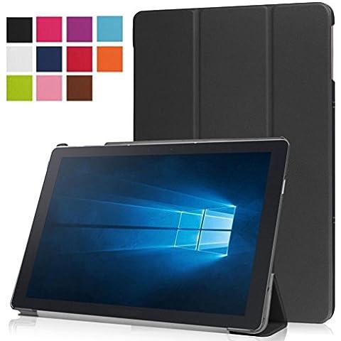 Ouneed® Copertura di Cuoio Sottile per Samsung Galaxy Tab Pro 12 pollici Tablet SM-W700 (Nero) - Pelle Open Face