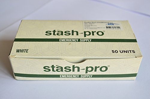 Stash-Pro Emergency Supply / 2 Rolling Paper + 2 Tips / Pack Of 50 Strips / WHITE