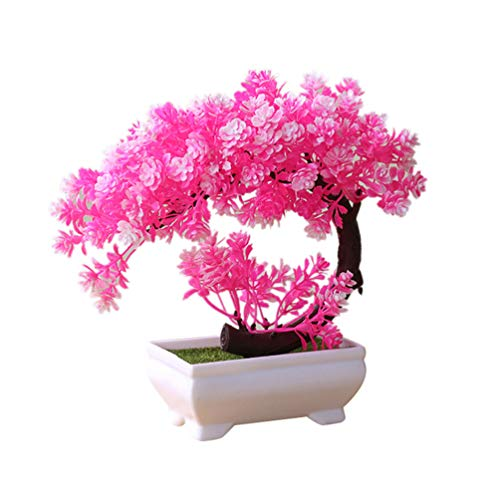 bismarckbeer Kunstbaum Bonsai künstliche Topfpflanze Blume Schreibtisch Ornament Home Office Garten Dekoration Geschenk