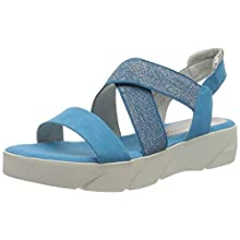 MARCO TOZZI 2-2-28755-34, Sandales Bride Cheville Femme, Bleu (Malibu Blue Core 874), 38 EU