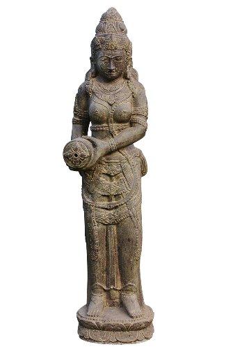 Wasserspeier Sri Dewi, Skulptur aus Steinguss, Figur, Frauenfigur