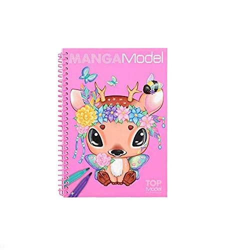 Depesche 6582 Pocket Malbuch MANGAModel, Modell Sortiert (Outfits Online Um)