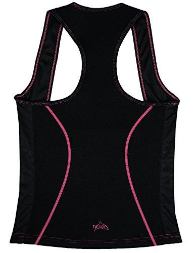 Delfin Spa Unterbrust-Tankini-Top, Black/Pink - Gr. M