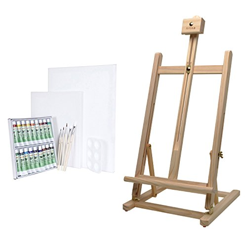 table-easel-watercolour-paint-set-by-artina-pine-wood-sydney-blank-screens-painting-set