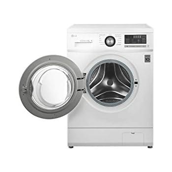 lg f1296tda 6 motion direct drive 8kg 1200rpm freestanding washing machine white. Black Bedroom Furniture Sets. Home Design Ideas