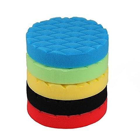 SPTA 5 teiliges 150mm Mischungs-Farbe und weiche Härte Polierset Polierschwamm Set für Poliermaschine Schwamm Auto polieren--DIY Qualität