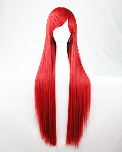 rot Farbe lange gerade Cosplay / Kostüm / Anime / Party / Bangs Voll Sexy Perücke (Anime Kostüme Frauen)