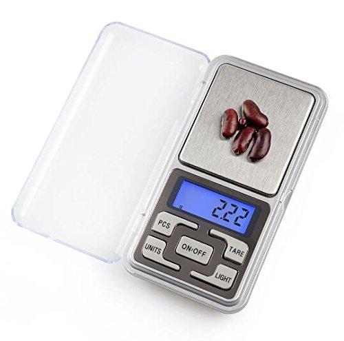EEvER Home Decor Regalo Ideale Bilance digitali, 0.01g ~ 200g Mini Portatile Tasca Gioielli LCD bilance digitali erbetta Droga Equilibrio Peso Grammi Scale Forniture
