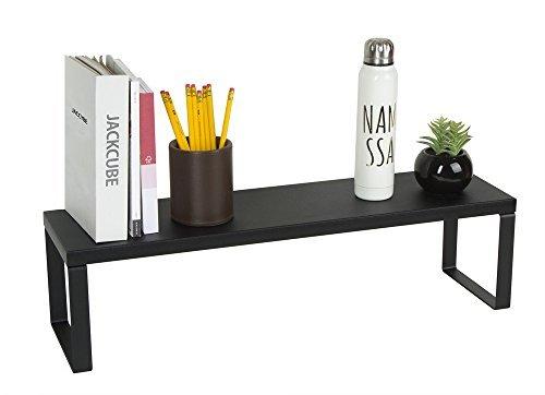 JackCubeDesign Schreibtisch Riser Organizer Monitor Desktop Computer Ständer Riser Halter Regal Schreibtisch mit starken Stahlrahmen (Schwarz, 65,8 x 17,8 x 17,8 cm) -: MK280B