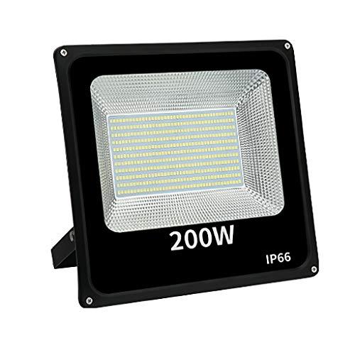 shedeng Éclairage LED 200 W extérieur étanche projecteurs spots super lumineux balle carrée site atelier atelier éclairage projecteur éblouissement IP66 (Couleur : A-white light)