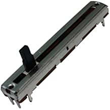 Aerzetix - 2 x Mono potenziometro 4mm a scorrimento lineare 10kΩ 100mW ±20% THT 60x9x5.5mm .