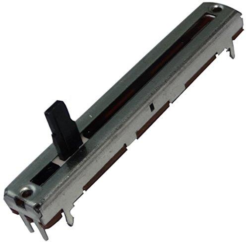 Aerzetix: 2x Potentiometer Schiebe 4mm linear mono 10 kOhm ± 20% 100mW THT 60x9x5.5mm C14915