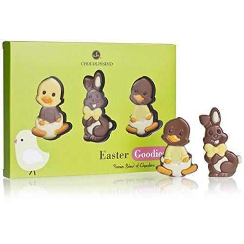 Easter Figures - 3 Schokoladenfiguren in Form von Enten und Hasen | Ostern Schokolade ohne Alkohol | Ostern Mitbringsel| Ostergeschenke für Kinder | Ostern Giveaway Alkoholfrei