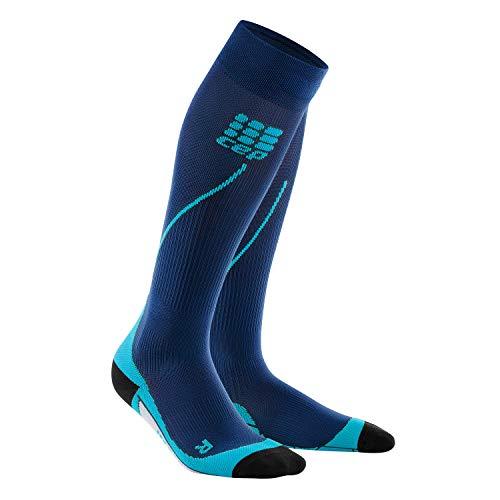Performance Kompressions Socken (CEP - RUN SOCKS 2.0, Laufsocken für Herren, Kompressionsstrümpfe made by medi, Deep Ocean/Hawaii Blue, IV)