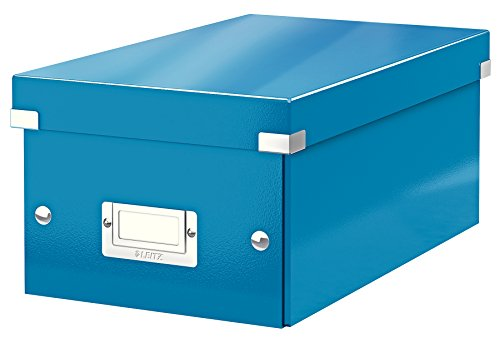 Leitz DVD Aufbewahrungsbox, Blau, Mit Deckel, Click & Store, 60420036