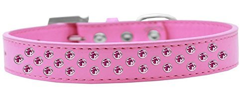 Mirage Pet Products Sprinkles Dog Collar with Bright Pink Crystals, Size 20, Bright Pink by Mirage Pet Products