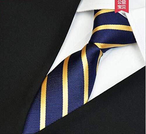 CEKINF Mode Lässig Herren Krawatten Blau Champagner Streifen Business Anzug Elegante Krawatten Trauzeuge 8Cm