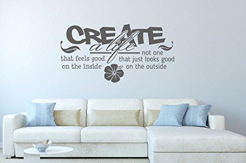 Wandtattoo Bilder Wandtattoo Create A Life Nr 1 Wohnzimmer Wandsprüche  Wandsticker Wandaufkleber Dek