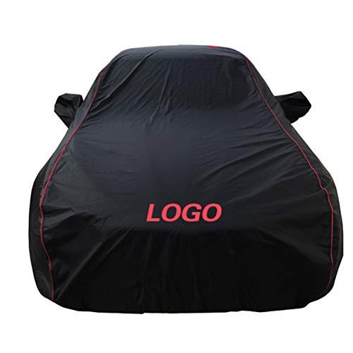 LALAWO Chezhao (Gilt für Renault) schwarz rote Linie benutzerdefinierte Version Outdoor Auto Abdeckung Oxford Tuch Vier Jahreszeiten Universal Auto Kleidung (Sonnenschutz/Schnee/Staub/Kratzer)
