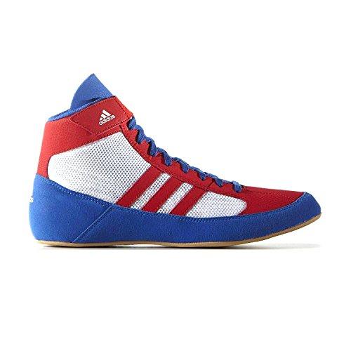 Adidas Havoc Herren Turnschuhe Senior Wrestling Stiefel - Weiß / Rot, 10.5 ()