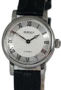 BN12410- Bernex Ladies Stainless Steel Wrist Watch, Mechanical, Textured Silver Roman Dial, Without Date