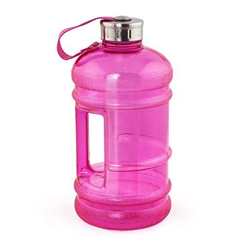 MELIANDA XXL Sport Trinkflasche MA-7400 - 2,2 Liter - MAXI Wasserflasche - Gym-Bottle - BPA & DEHP Frei, Pink