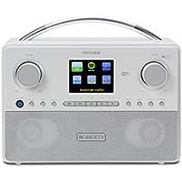 Roberts Radio Stream93i White DAB/DAB+/FM RDS and WiFi Internet Radio with Three Way Speaker System