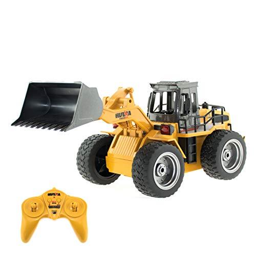 efaso 1:18 RC Radlader 1520 - Baustellenfahrzeug mit Metallschaufel, Allradantrieb und Licht - Outdoor geeignet -
