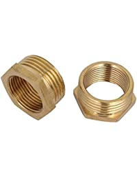 Tradico® 1BSP Male X 3/4BSP Female Thread Brass Hex Bushing Pipe Fitting 2pcs