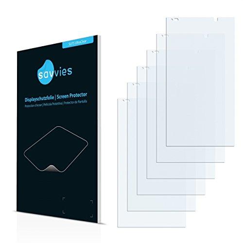 6x Savvies SU75 UltraClear Bildschirmschutz Schutzfolie für HP Slate 6 VoiceTab II (ultraklar, mühelosanzubringen)