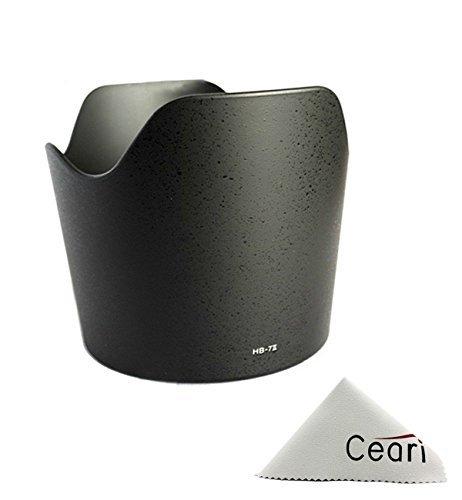 CEARI Dedicated Petal Replacement HB-7 Bayonet Lens Hood for Nikon AF Zoom-Nikkor 80-200mm F/2.8D ED Lens + CEARI MicroFiber Clean Cloth  available at amazon for Rs.2039