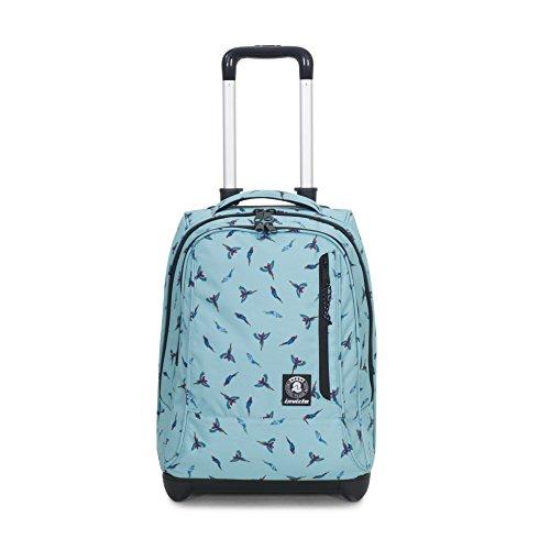 Trolley invicta - tindy - waterfall parrots azzurro fantasia - 36 lt spallacci a scomparsa! uso zaino scuola e viaggio