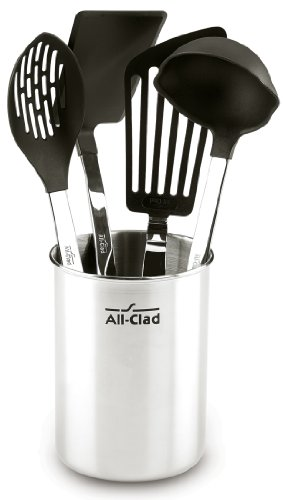All Clad Utensil Set (All-Clad K0405564 Stainless Steel Non-Stick Kitchen Tool Set, 5-Piece, Silver by All-Clad)