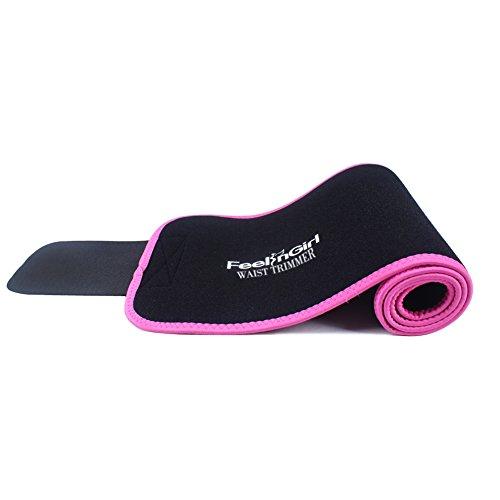 FeelinGirl Damen Waist Cinchr Traning Sport Belt Fitness Slimming Girdle Gurte Korallenrot